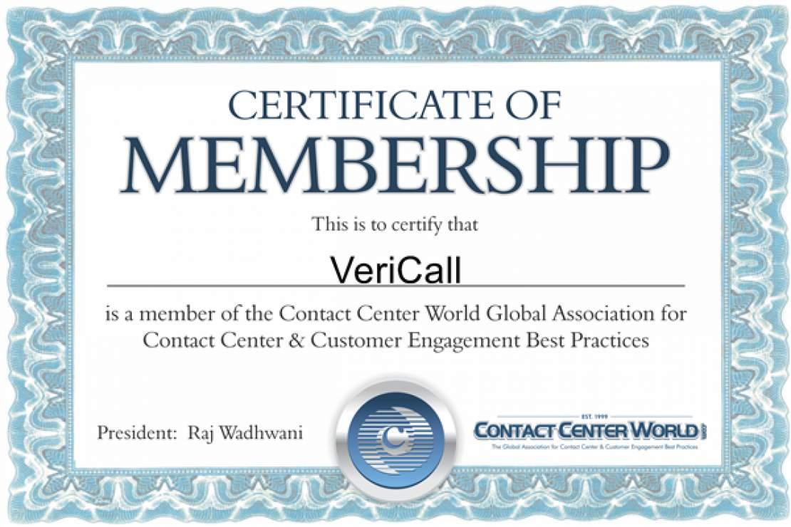 Contact Centre World Membership renewed
