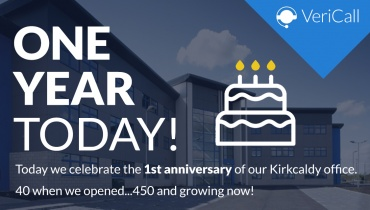 VeriCall's Kirkaldy office celebrates 1 year anniversary!