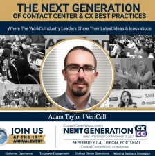 CEO of Vericall Adam Taylor to keynote speak at Next Generation Best Practice CX & CC Conference